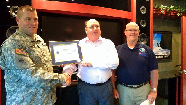 Shawn Hogan receives service member patriot award