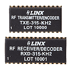 KH2 Series RF Transmitter/Encoder and Receiver/Decoder Modules